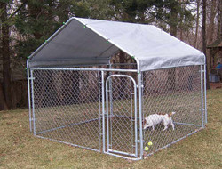 Large Galvanized Exercise Pen Dog Run Puppy Portable Enclosure Kennel