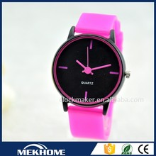 new design fashion colorful woman watch 2015 brand/cheap silicone rubber strap watch