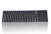 Cheapest keyboard Super thickness only 4mm Russian Keyboard with Touchpad for TV, office supplies PC