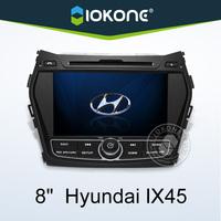 In dash 2 din 8 inch touch screen car stereo for hyundai ix45