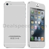 Brushed Aluminum Pattern Front and Back Screen Protector Full Film Guard For iPhone 5 5S