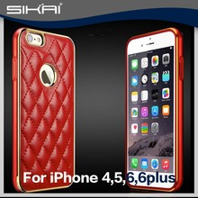 2015 hot sale best popular genuine leather mobile phone leather case for Iphone 6 6plus For Smaung galaxy Note 2 S5