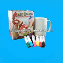 diy ceramic mug with color pen