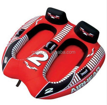 China supplier Inflatable 2 Rider Towable Raft,Boat Ride Tubing,River Lake Summer Fun Water Toy,approved EN71&ASTM
