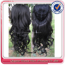 Indian remy hair 3/4wig,half wig, 2# lace front wig, glueless cap structure