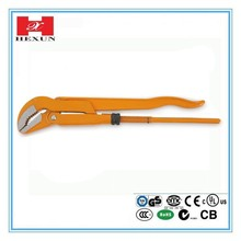 Bent nose pipe wrench, Heavy duty