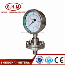 power stations used liquid filled pressure gauge with diaphragm seal