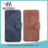 matte surface customized Genuine / PU leather case for iphone 6