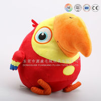 Function doll talking parrot toy & super soft bird parrot toy ICTI Audited