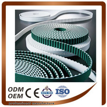 One Side or Both Side Green Fabirc White PU Timing Belt