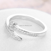 DLY 2016 Latest Design Promotional Items 925 Sterling Silver Antique Screw Nail Ring With CZ