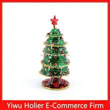 Wholesale fashion enamel tree metal christmas decoration