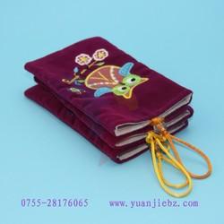 2015 hot sell different color cufflinks velvet bag, velvet pouch