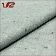 Shaoxing Textile Printed 100% Linen Fabric For Men's Shirting