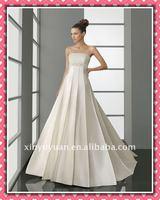 New Arrival Modern Sexy Empire Waist Princess Long Train Wedding Dress Wedding Gown AIW-149