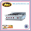 comercial 4 queimadores de fogão a gás com grelha