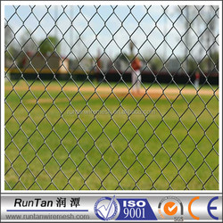 Runtan auto weave chain link fence system 5 foot chain link fence(diamond wire mesh) chain link fence