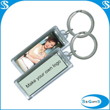 Wholesale custom souvenir rectangle acrylic photo keychain