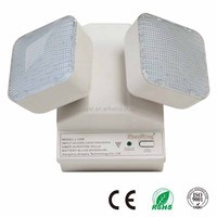 Green LED Indicates Power On Twin Spot Emergency Light Ni-Cd Battery