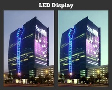 P10 indoor glass led display/easy installation/16-bit color transform