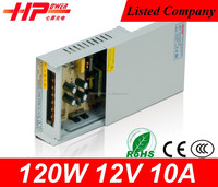 Guangzhou supplier rainproof series switching mode led power supply 120w 10 amp 12v dc input led driver