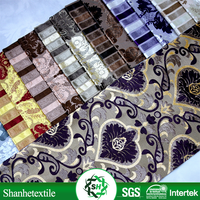 Oeko tex certified table cloth metallic jacquard fabric