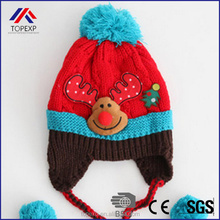 knitted baby kids christmas hat design