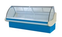 curved glass cooler,deli meat refrigerator,curved glass freezer,chest freezer