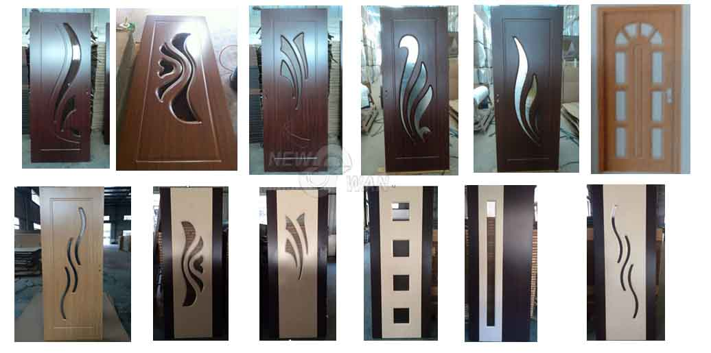 Free sample wooden design kerala pvc door buy main door for Window glass design in kerala