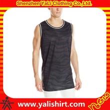 Sublimation customized fitness mix size mesh sleeveless wholesale blank basketball jerseys