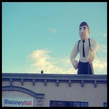 Grande hombre inflable publicidad en el techo venta