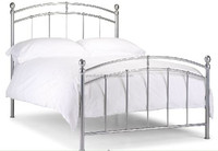 2015 new morden design metal double bed for sale