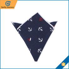 Hot Sale Special Printed Cheap Mens cotton pocket squares handkerchief