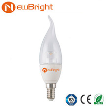 LED candle light CF37 4W led light bulbs crystal pillar