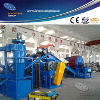 Waste car tyre grinding machine