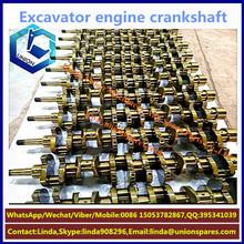 Excavator mitsubishi 4g63 6g72 6g74 billet aluminum forged steel diesel engine crankshaft gear bearing assy manufacturers price