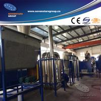 PP PE waste film washing crushing line / film crushing drying machine
