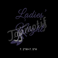 Ladies Night High Heel Shoe Rhinestone Design for Fashion Dress