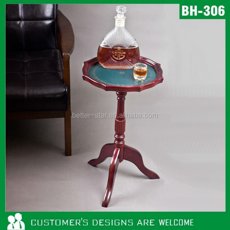 둥근 나무 테이블, 작은 원형 테이블, 고풍스러운 테이블-목재 ...