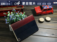 Denim Jean jacket sewing with leather classic case for ipad mini