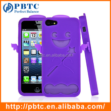 Cute Animal Silicone Phone Case For Iphone 5 / 5S , Mobile Phone Silicon Case
