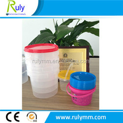 500ml clear high quality plastic food grade plastic containers/plastic bucket
