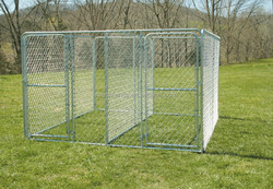 Strong galvanized welded Heavy-duty 1-3/8' tubular frame and heavy-duty 11-1/2-gauge chain link wire Galvanized Dog Kennels