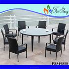 Preço de fábrica FANSHENG PE / vime RATTAN móveis para de uso específico cadeira de jantar e conjunto de