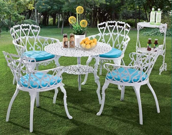 outdoor muebles mesa para nios y silla de aluminio fundido blanco juegos de patio