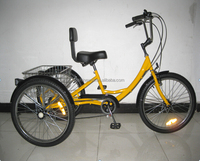 "24""cheap steel cargo tricycle with 6 speed"