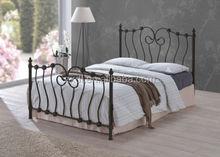 hot sale adult latest double bed designs 3ft/4ft/5ft adult wood slats metal bed frame