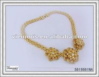 Fashion Ladies African Gold Vintage Necklace Without Stone