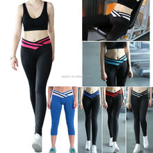 Women's Yoga Leggings Sports Fitness Gym Pants Dance Matching Color Trouser