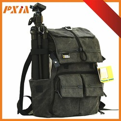 Most Fashion Travel Canvas Camera Bag,Digital SLR Camera Bag,Top Travel Camera Backpack Bag
